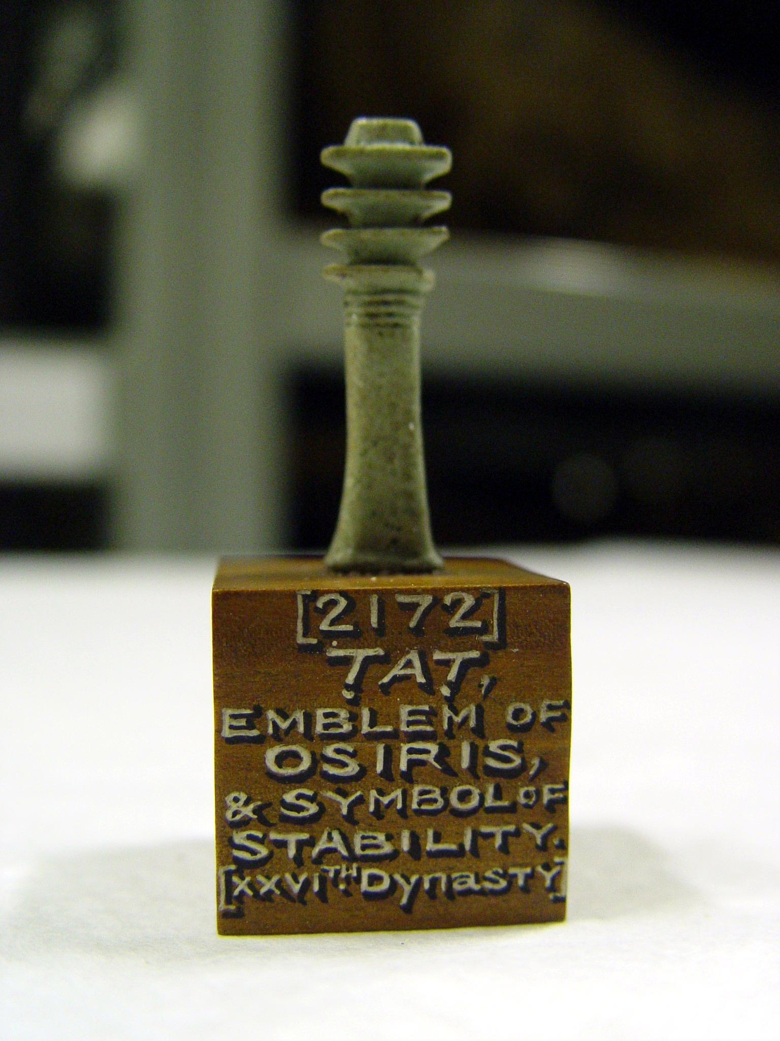 護符とされたジェド柱のミニチュア
